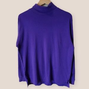 Vintage 90s Purple Turtleneck Sweater Size L